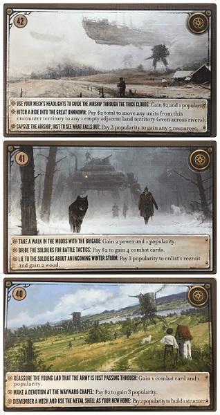 Scythe: karty spotkań nr. 37-42 (wersja polska)