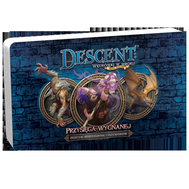 Descent: Wędrówki w mroku (2 edycja) - Przysięga Wygnanej (Zestaw Bohaterów i Potworów Dnż)