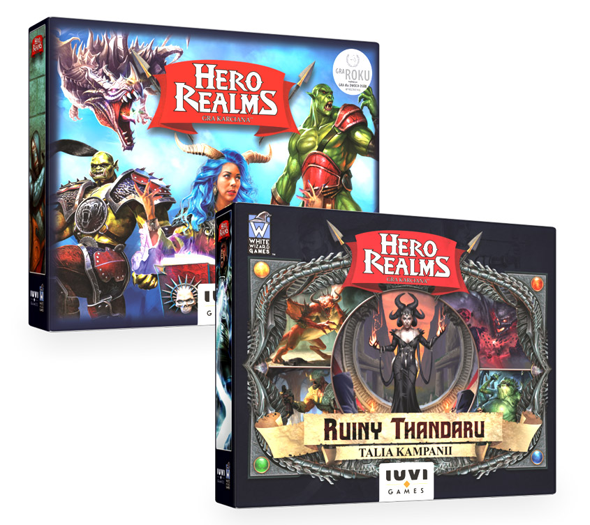 Hero Realms - Pakiet Gra Podstawowa + Ruiny Thandaru + Liczniki życia (PL)