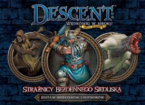 Descent: Wędrówki w mroku (2 edycja)-Strażnicy Bezdennego Siedliska(Zestaw Bohaterów i Potworów DnŻ)