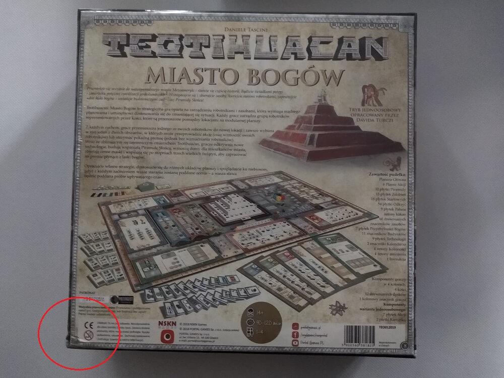 Teotihuacan: Miasto Bogów - Uszkodzone pudełko. Produkt zafoliowany