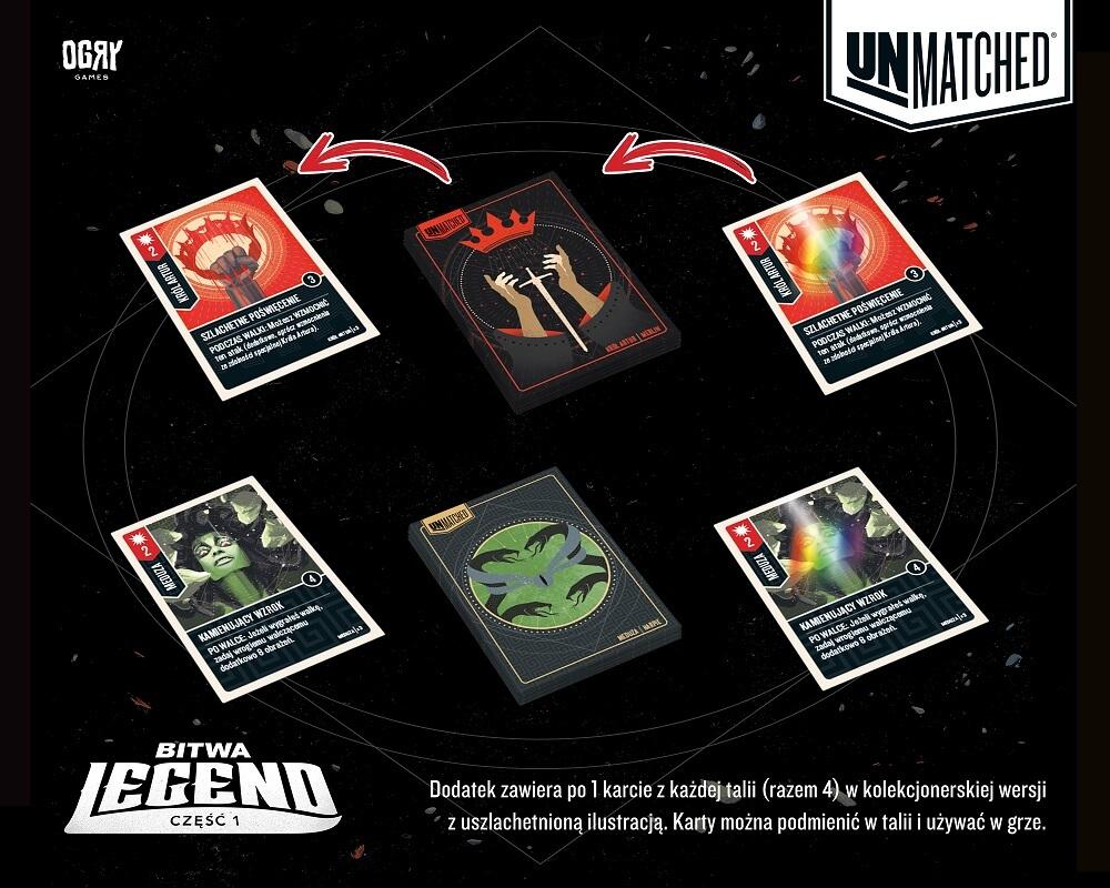 Unmatched: Bitwa Legend - karty kolekcjonerskie